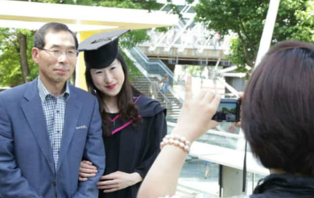 Graduate having their photo taken