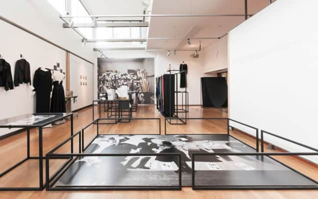 'Yohji Yamamoto at Work' exhibition, Fashion Space, London College of Fashion (LCF), photography by Nuwan Wije, March 2011