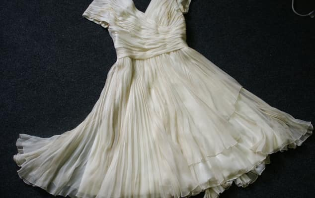 Norman Hartnell Dress c1950 from the Korner Collection London College of Fashion Archives