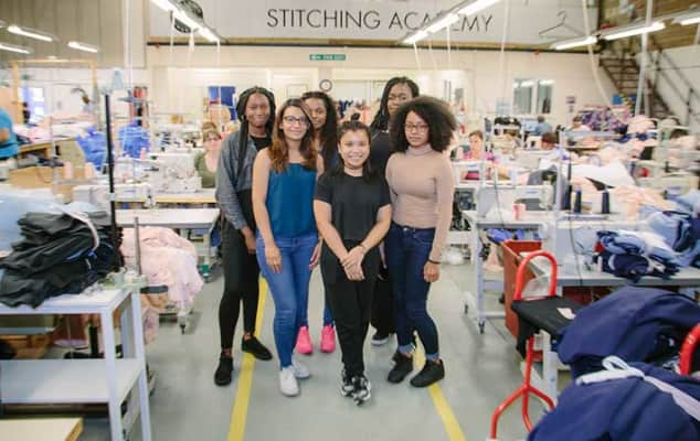 Apprentices at the Fashion Technology Academy. Courtesy of Fashion Enter