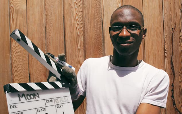 LCC student with Clapper board. Photo © Elaine Perks