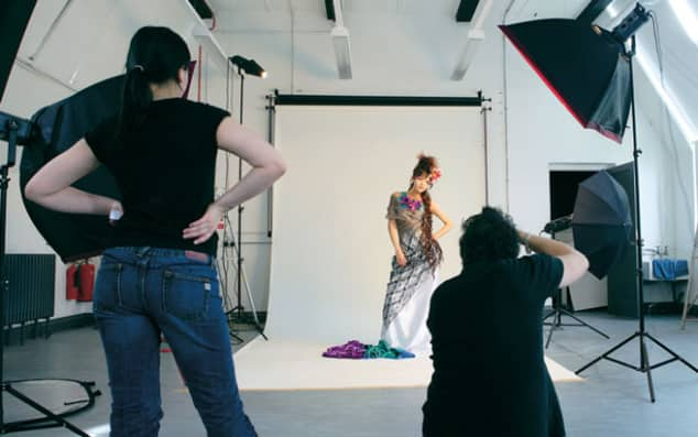 Photography LCF Student in Studio. Courtesy of Elaine Perks.