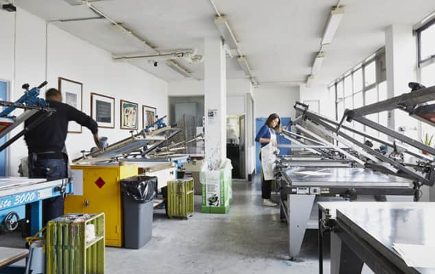 Printmaking workshops at Camberwell College of Arts.