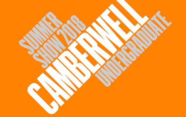 Camberwell Undergraduate summer show 2018 graphic.