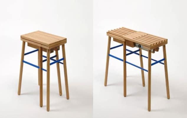 Karthik Poduval - Wooden stool.
