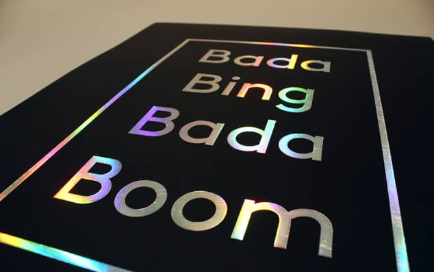 Image of the words bada bing bada boom