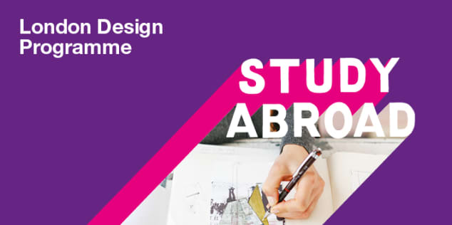 Study Abroad student in conversation with their tutor during London Design Programme module.