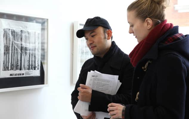 Students in a gallery during Curating Contemporary Arts.