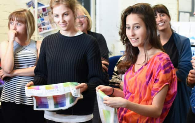 Summer Study Abroad students during Digital Textile Design.