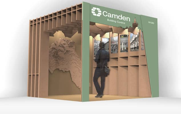 Digital interpretation of the Camden Pavilion for Ecobuild project