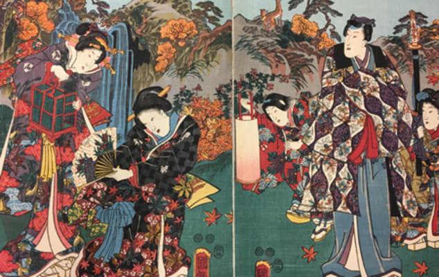Pleasures of Autumn, 1853, by Utagawa Kuniteru