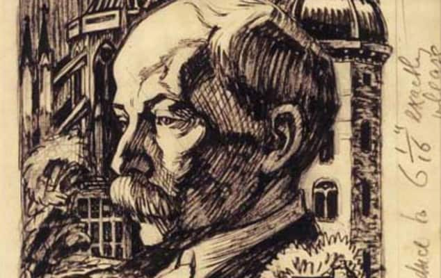 W.R. Lethaby by Noel Rooke