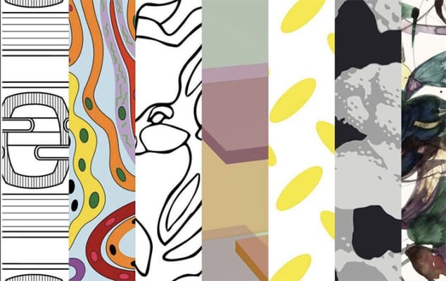Collage of abstract designs