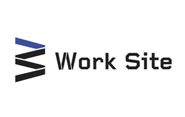 Work Site written in blue