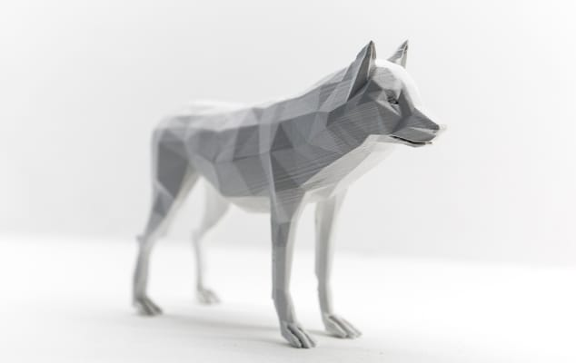 3D design and product design short courses at London College of Communications - Image of Animated wolf