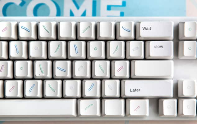 Christmas short course at London College of Communication - image of a keyboard