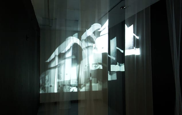 Digital Design training course for employability skills & digital literacy at London College of Communication - image of projection onto fabrics