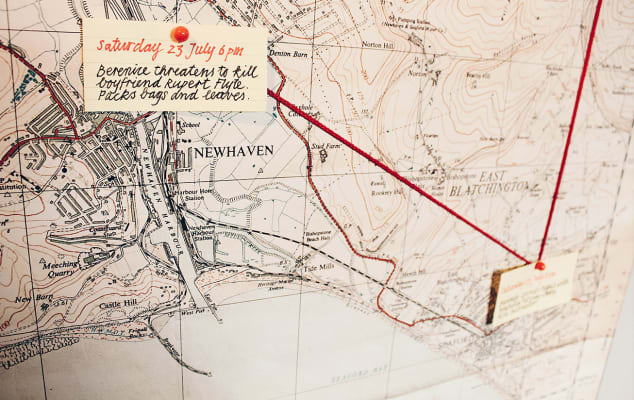 Image of a map and annotations