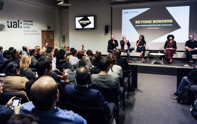 Lecture theatre at Beyond Borders event