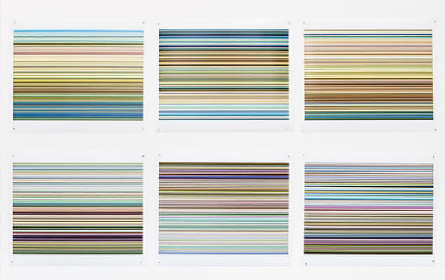Creative and Cultural Industries Management Training - Bespoke training courses for professional development in the creative industries at London College of Communication - Image of  framed photographs showing stripy images