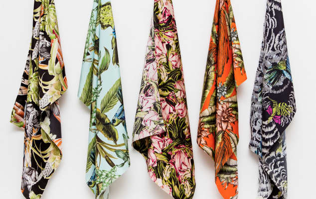 Textiles and Materials professional development courses at London College of Communications - Image of Coloured scarves