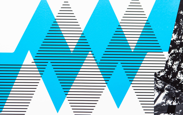 Advertising professional development courses at London College of Communications - Image of blue line and black and white stripes