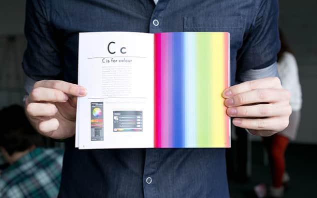 Photograph: C is for Colour. A student's work in collaboration with Ladybird.