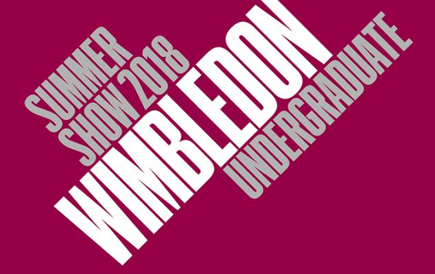 Wimbledon Undergraduate summer show 2018 graphic.