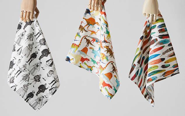 Photo of handkerchiefs by designer James Barker