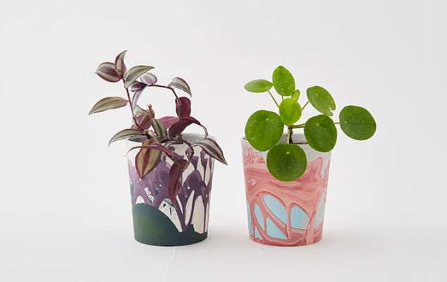 Brightly coloured ceramic vessels