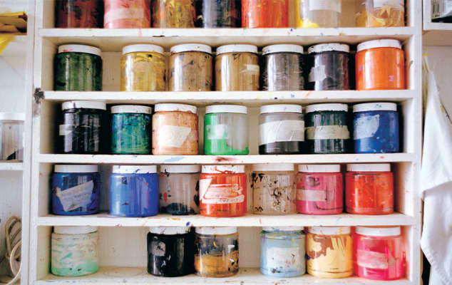 Paint pots. Photo by Elaine Perks