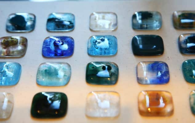 Image of glass design, student work by Sayuri Morio, CSM 2008. © Luke Potter