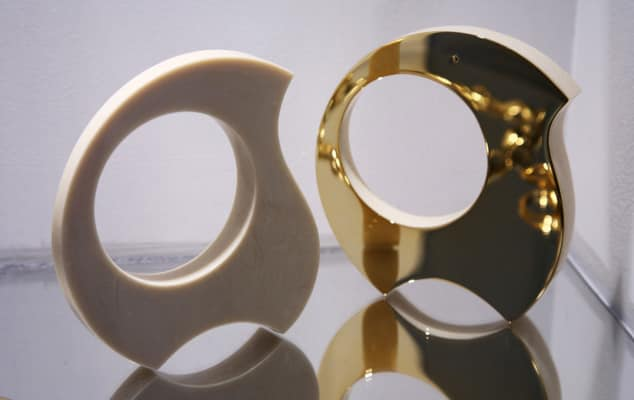 Image of Jewellery Design student work by Emily Richardson 'Geometric Modern', CSM. © Luke Potter