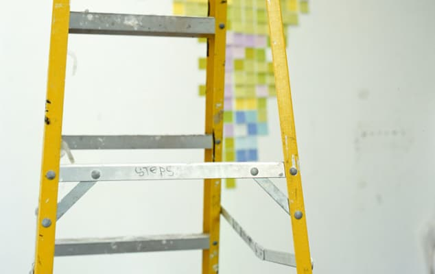 Close up image of yellow ladder