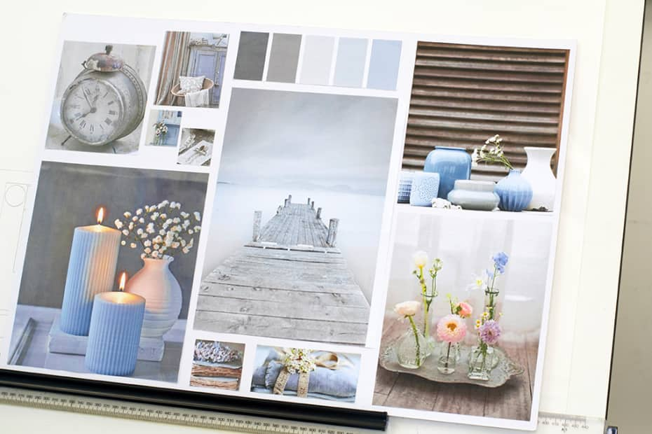 Interior Design Concept Board Created On Decoration And Styling Photograph Courtesy UAL Short Courses