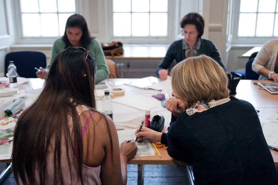Students Taking Notes During Starting An Interior Design Business Photograph Lucy Campbell