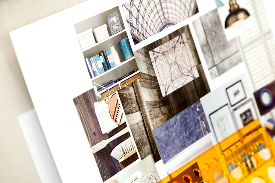 Mood Board Made By Student During Bite Sized   Interior Design. Photograph:  Spine Photographic