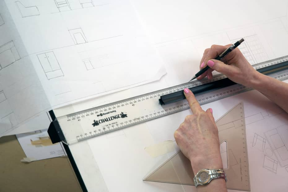 interior designers drawings. Short Course Student Drawing Sections, Plans And Elevations During Technical For Interior Design. Designers Drawings .