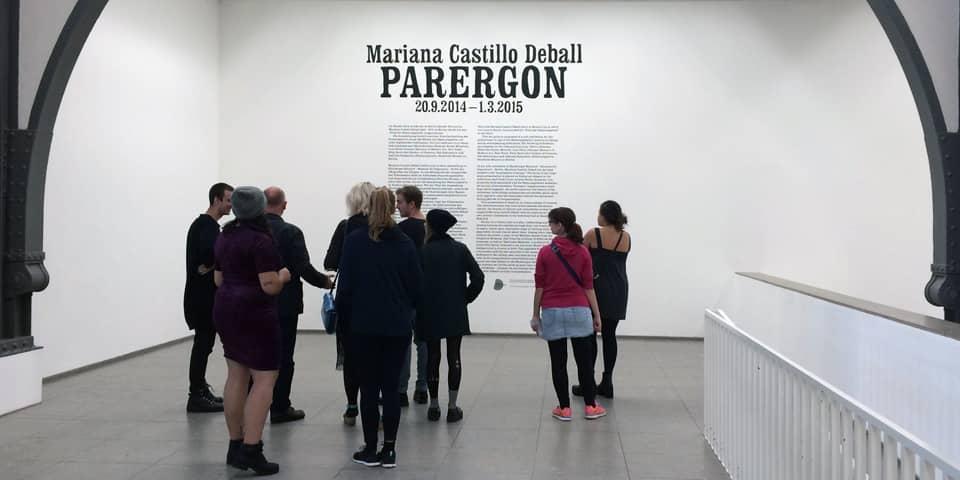 European Art History Students inside a Berlin museum