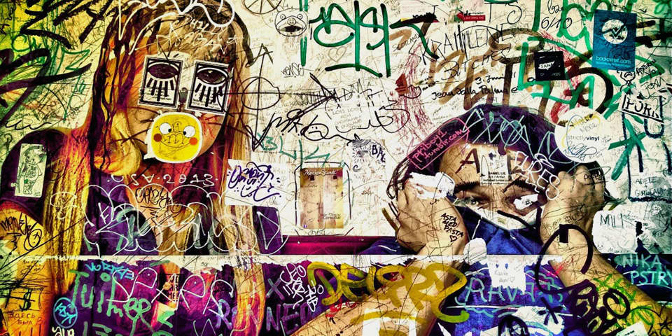 Graffiti Photographed by a European Art History - London and Berlin