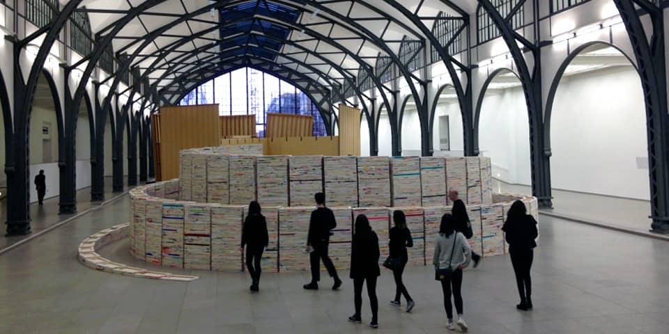 Students visiting Hamburger Bahnhof Museum, Berlin