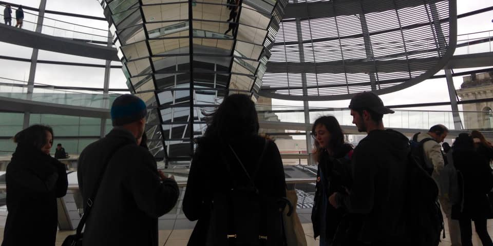 Students on the European Art History trip to Berlin.