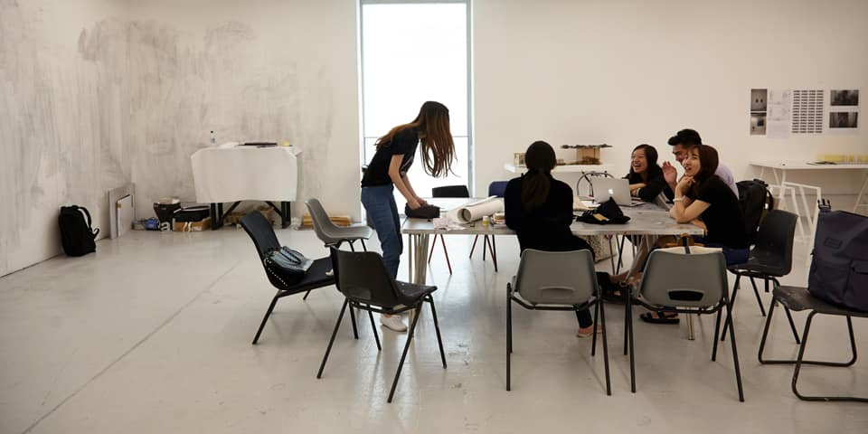 Students in the Studio at Chelsea College of Arts During London Design Programme. I