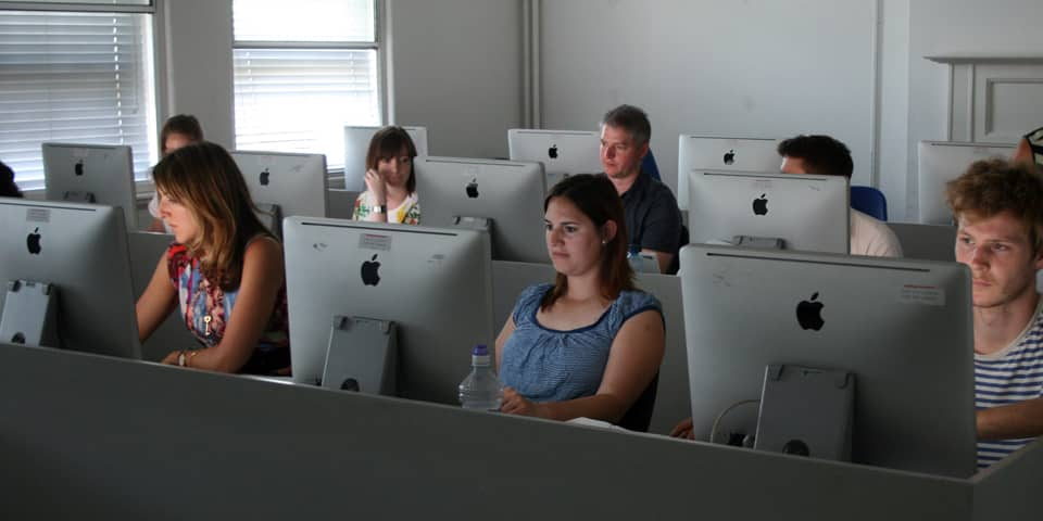 Students in the Mac suite during Web Design - HTML and CSS short course.