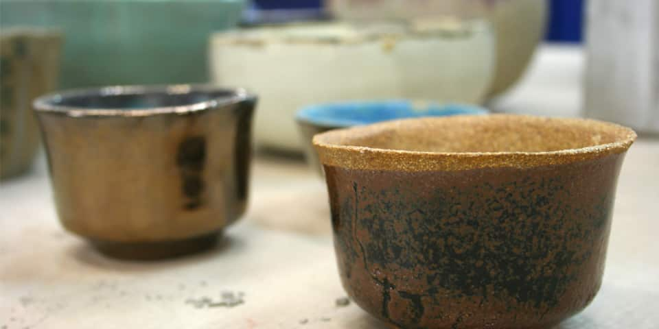 Ceramic pieces created during Ceramics Open Studio
