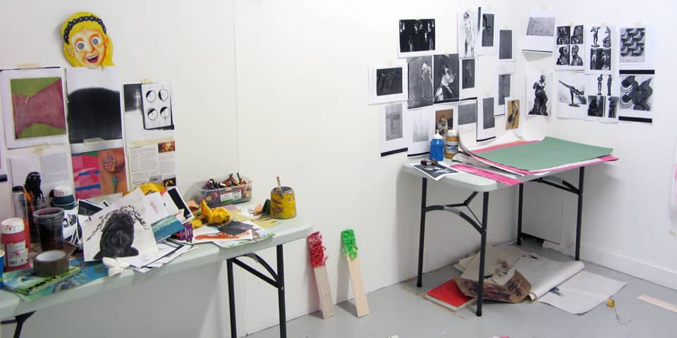 desk spaces during MA portfolio Preparation