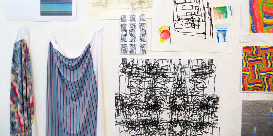 Examples of student designed fabric and development work.