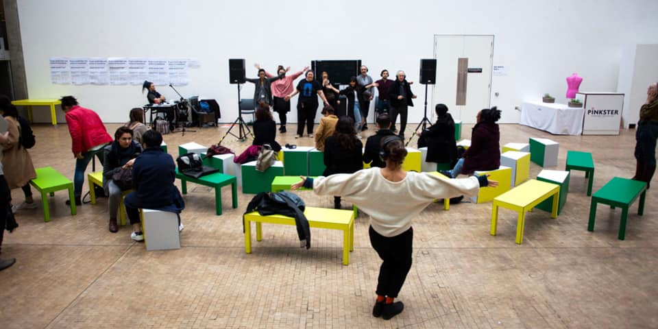 Silvia Mercuriali's Macondo theatre workshop, exploring the distinction between performer and spectator