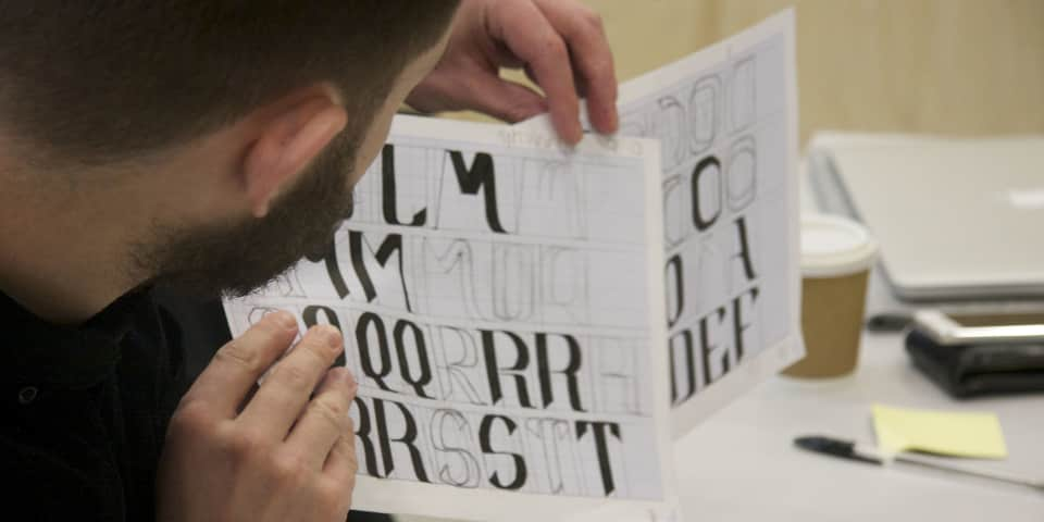 student calligraphy