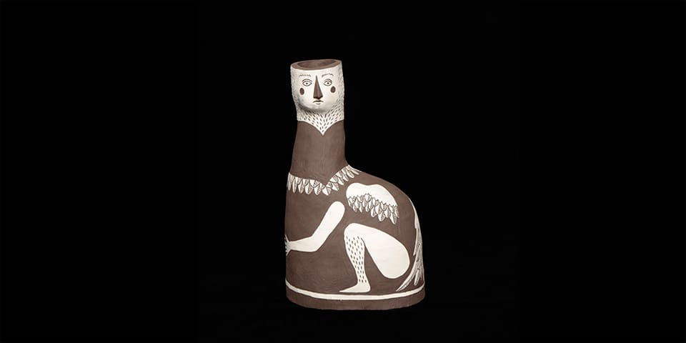 Photograph of an ceramic owl figure